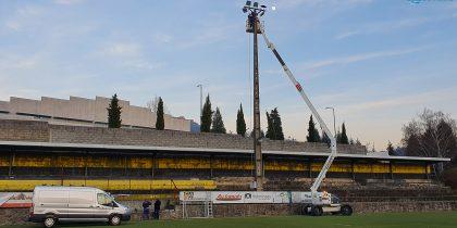 Requalificação da iluminação no Estádio Municipal de Vieira do Minho