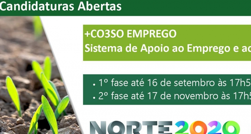 Candidaturas de apoio ao emprego e empreendedorismo e empreendedorismo social + CO3SO Emprego