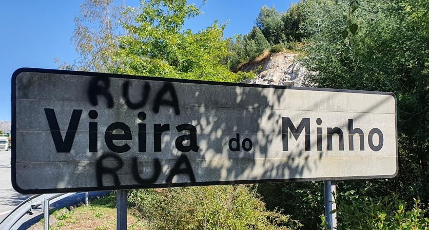 Vandalismo na Vila de Vieira do Minho