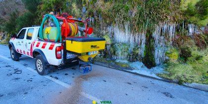 Em 4 dias Câmara Municipal espalhou quatro toneladas de sal-gema nas estradas